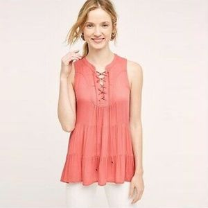 Anthropologie Floreat Anafa Tiered Tank Top S